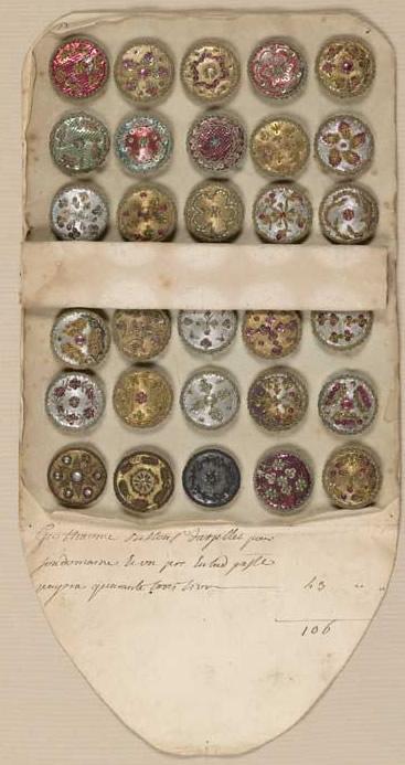 Muestrarios de botones del siglo XVIII
